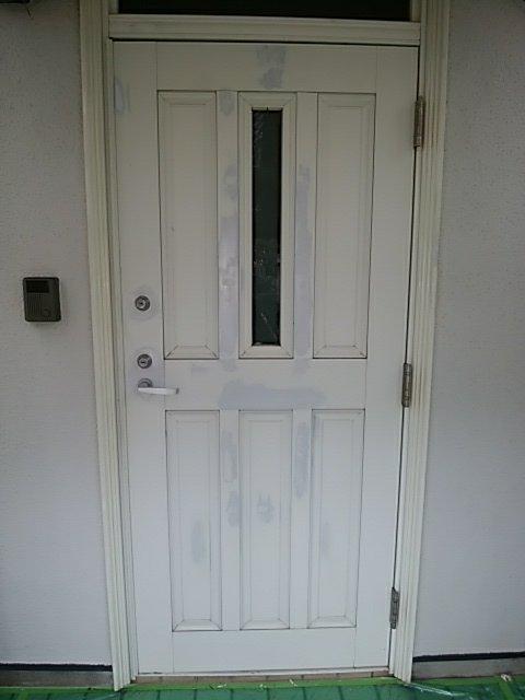 外壁塗装、玄関扉塗装