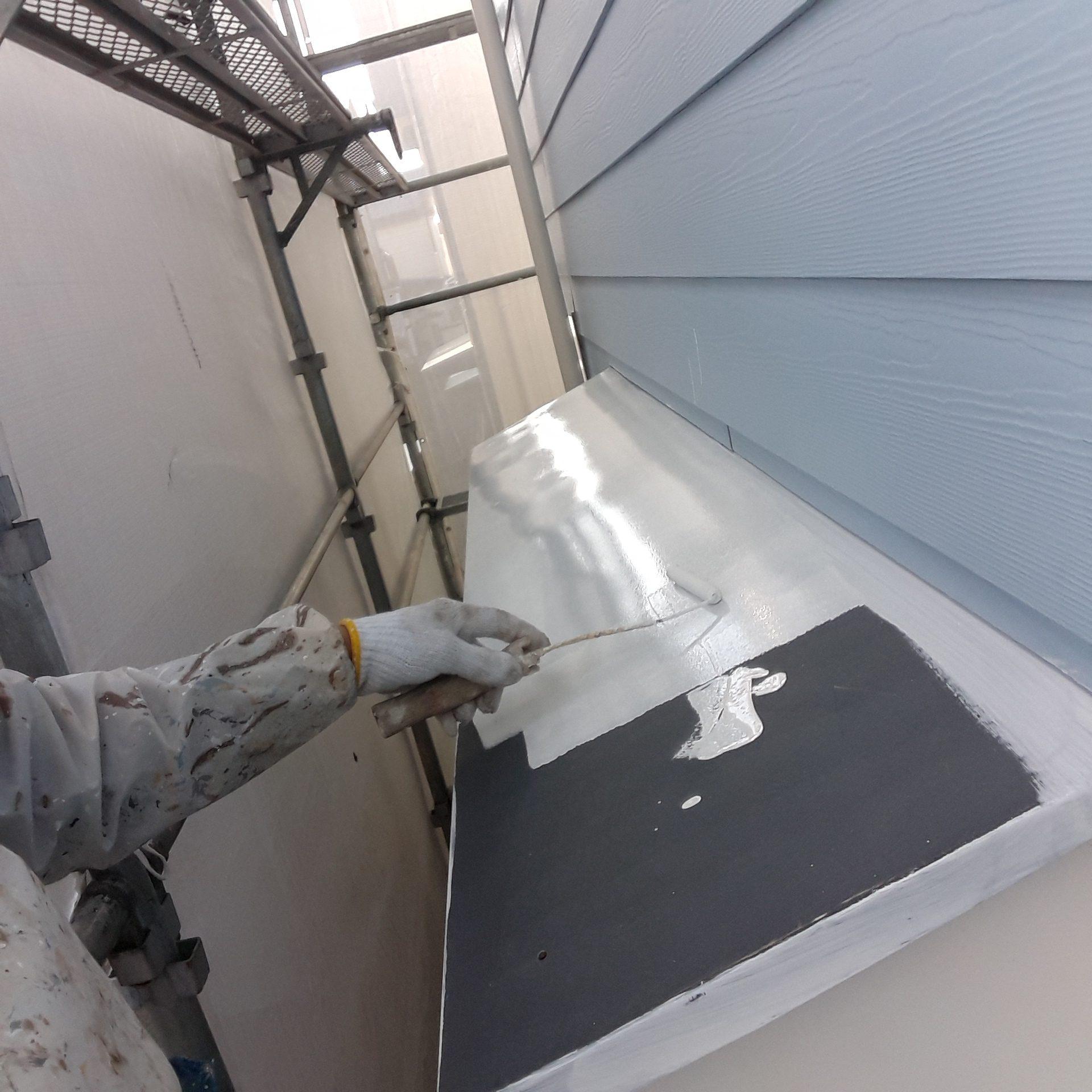 トタン屋根と勾配屋根さび止め・屋根の高圧洗浄